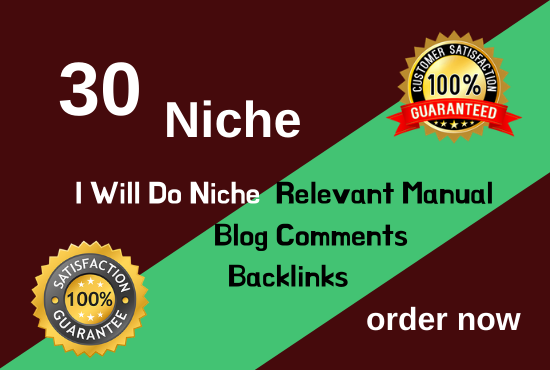 do 30 niche relevant manual blog comment backlinks