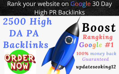 I will boost your SEO rank with manual 2500 high da pa backlinks 30 days
