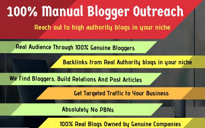 I will do blogger outreach with high 50-60 da guest posting