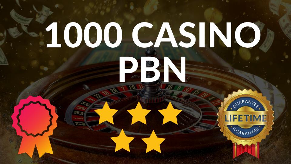 Top quality 1000 CASINO/ Poker/Gambling web 2.0 PBN unique 1000 sites