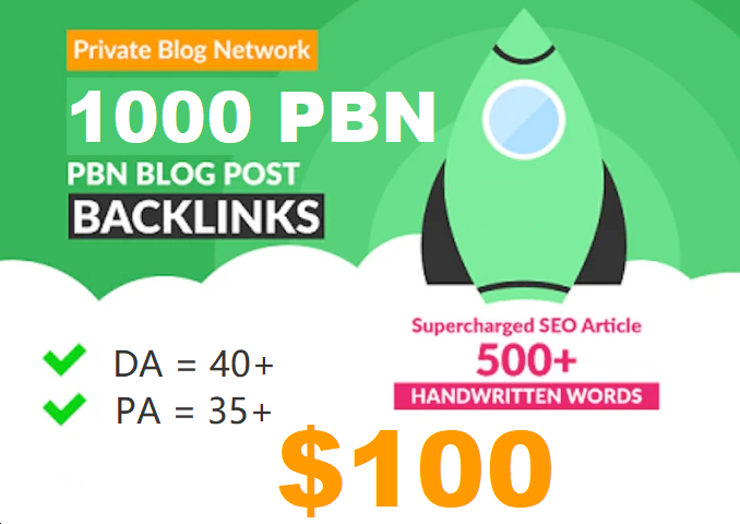 Homepage web 2.0 1000 Permanent PBN links DA 40+ PA 40+