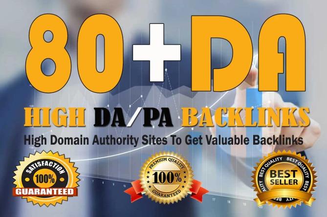 high 80plus DA,  60 Unique Domains boost for website