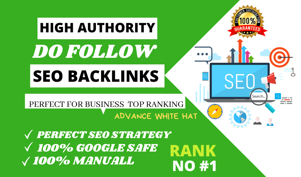 BOOST your ranking through 450 high authority manually SEO backlinks