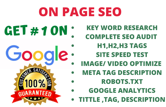 I will do on page SEO and on page optimization for your website ranking