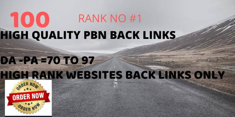 i will build 100 pbn back links for your niche