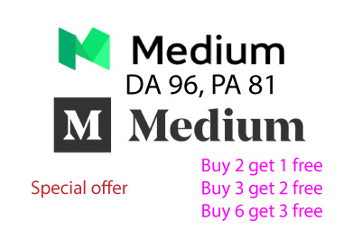 I will write and publish your guest post backlinks on medium.com
