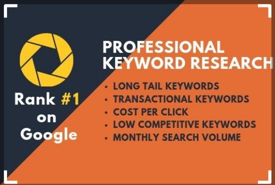 I will do In Depth SEO Keyword Research