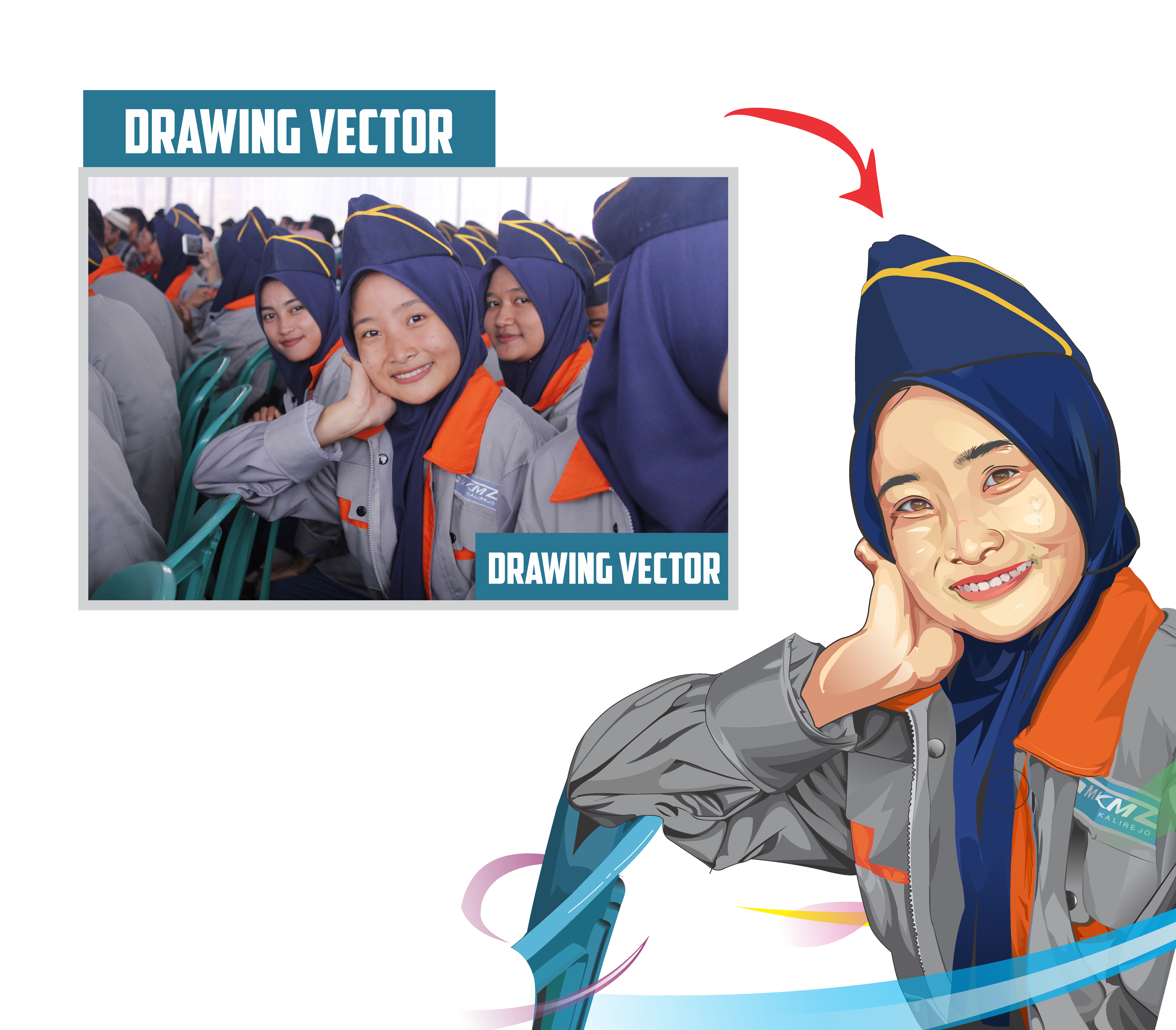 I will do making vector potrait for you