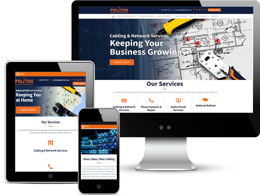 RESPONSIVE WEBSITE FOR BUSINESS AND COMPANY