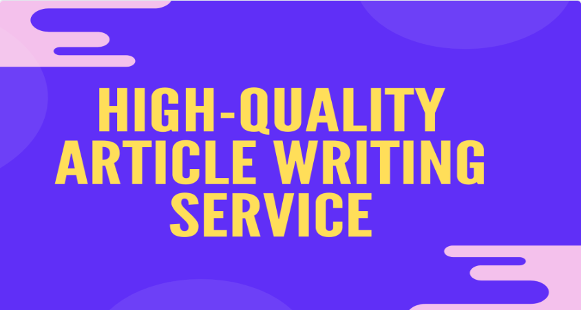 I'll write a high quality article on any topic for your website