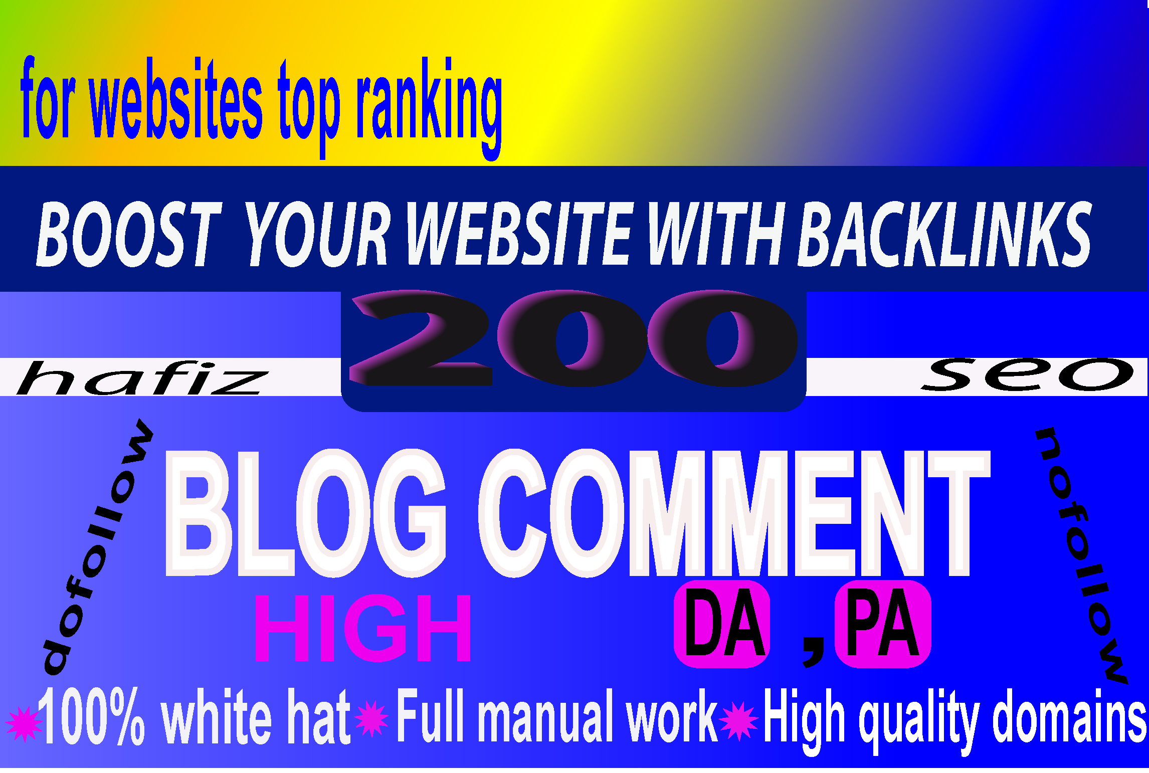 I will post 100 blog comment in top rated site