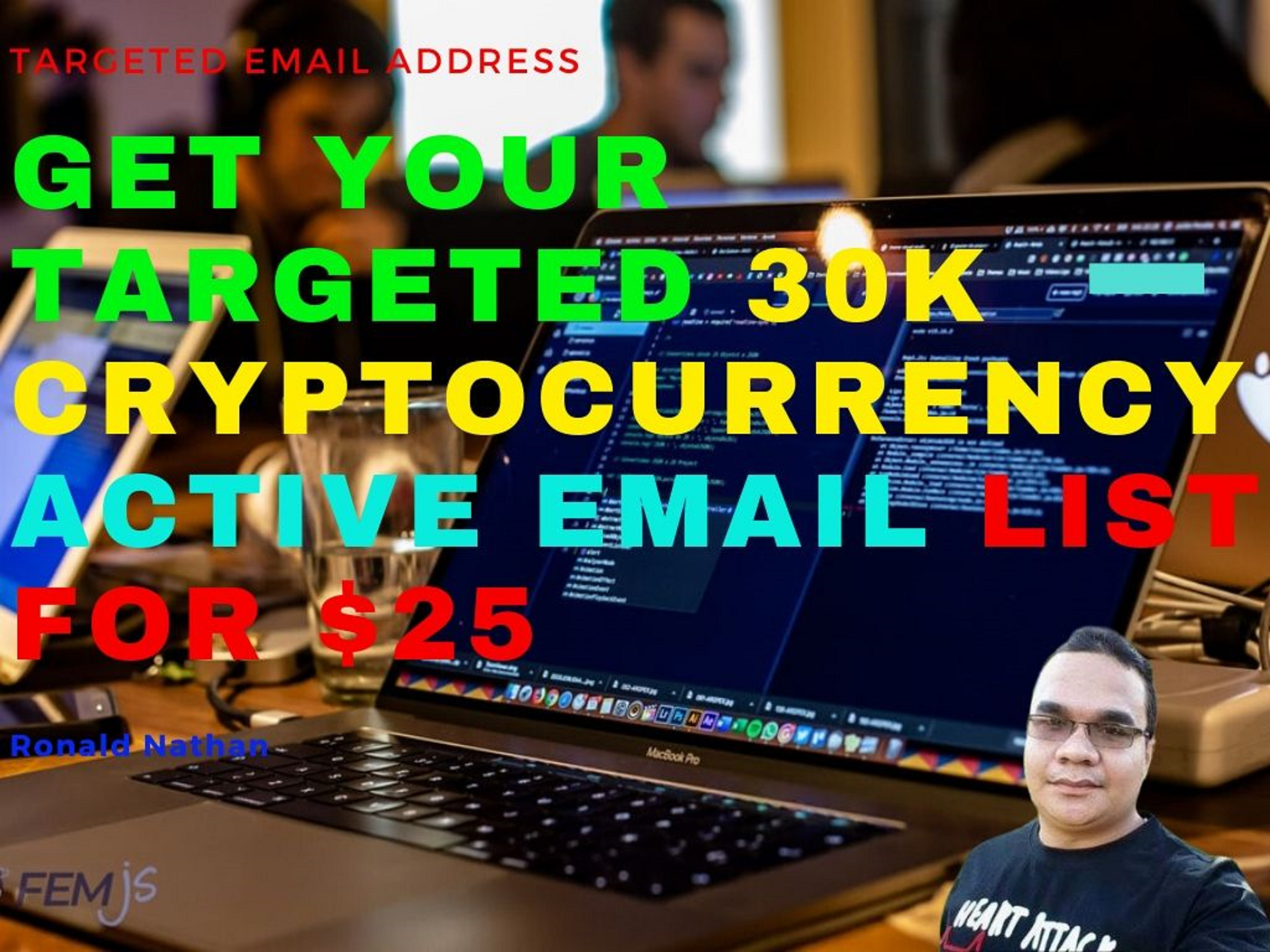 Get your targeted 30k Cryptocurrency Active Email list
