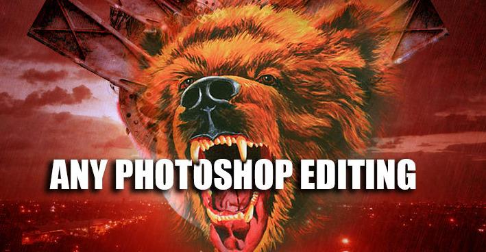 I will do any photoshop editing