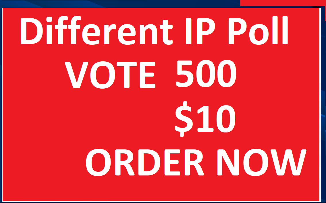Speed Fast 500 Different USA Ip Online Contest poll Votes
