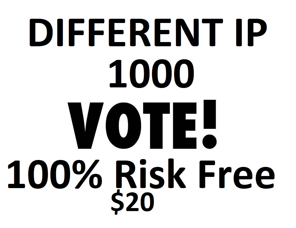 Speed Fast 1000 Different country Ip Online Contest poll Votes