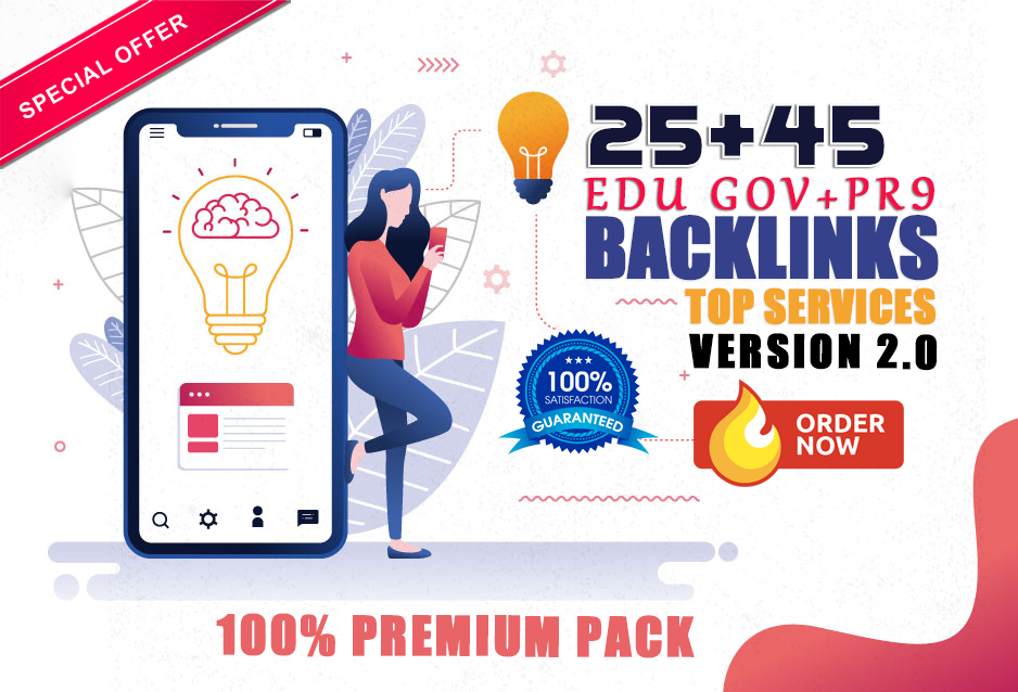 Boost Ranking with premium 25 edu gov and 45 pr9 SEO backlinks