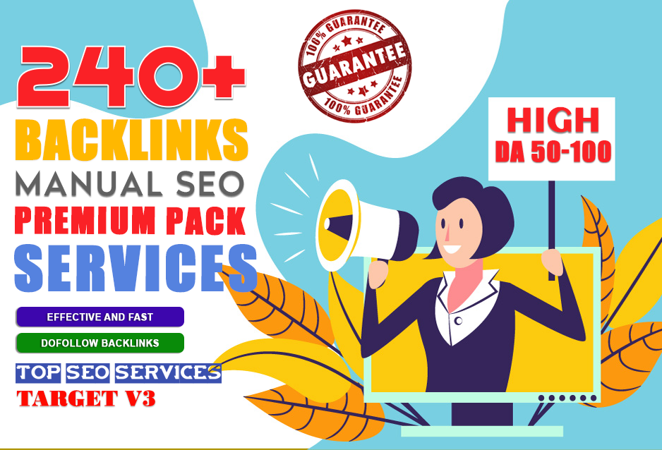 240 SEO Backlinks for Boost Your google Ranking And Build Website DA PA