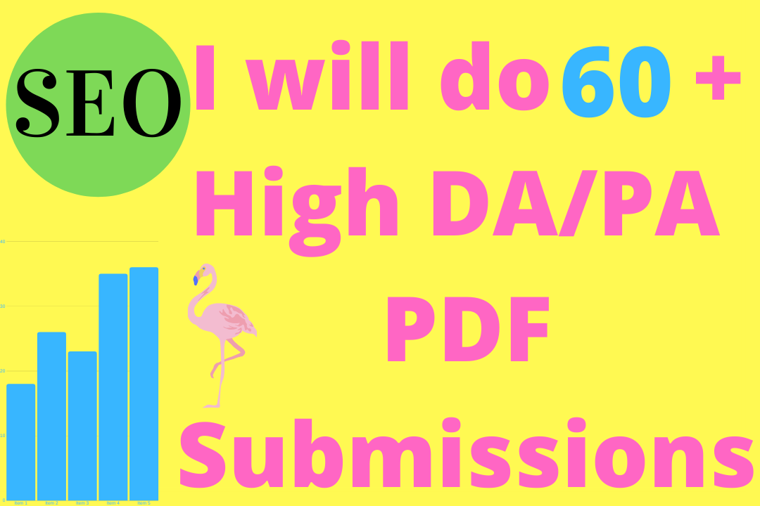 I will do 60 high da/ pa pdf submissions for you