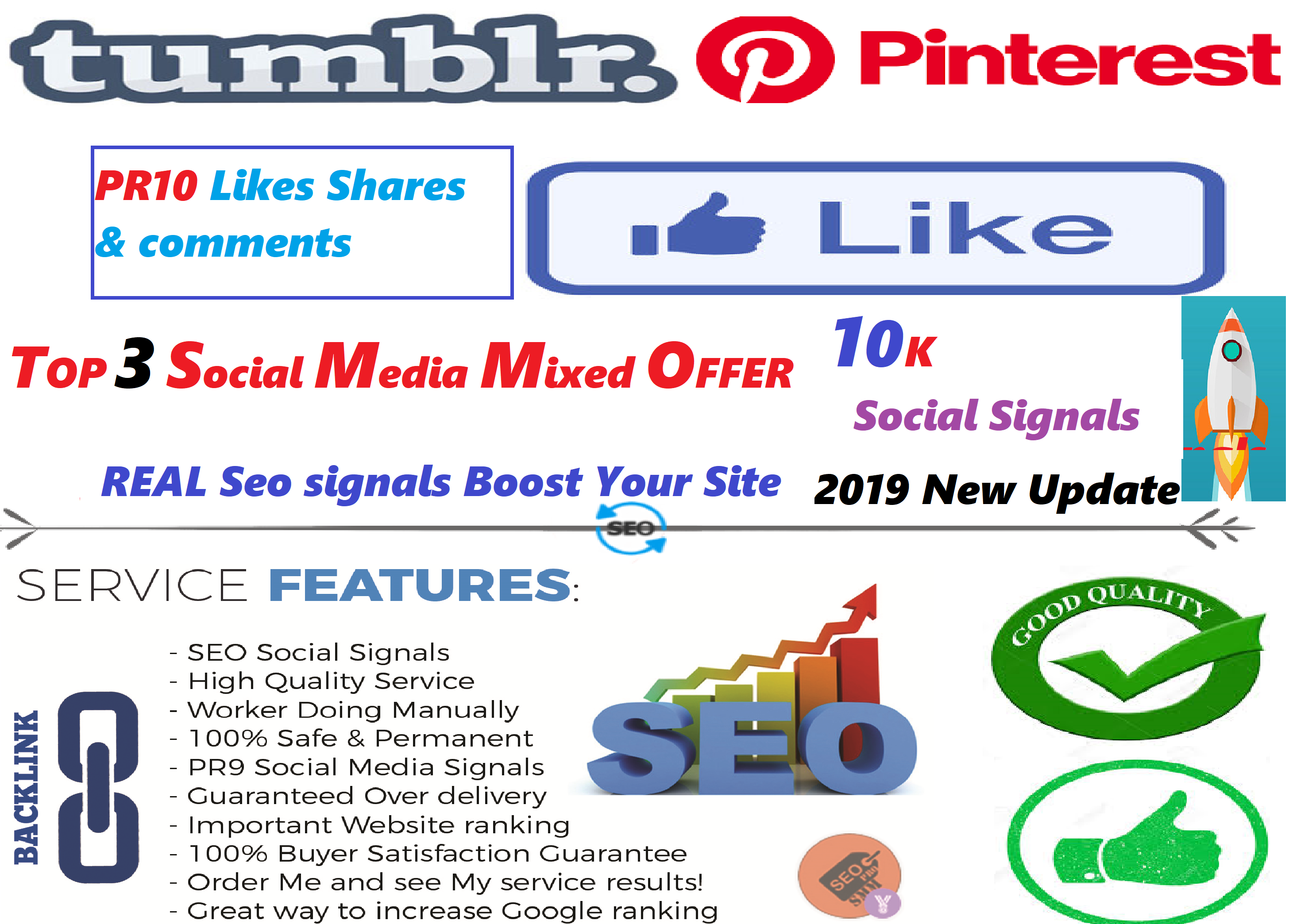 NO1 Social Media Platform 10K+ PR8/9/10 SEO Social Signals Share Bookmarks Important Google Ranking