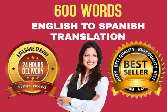 I will translate English to Spanish best translation service