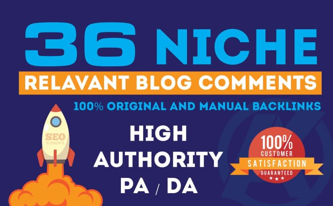 do 36 niche relevant manual blog comments seo backlinks