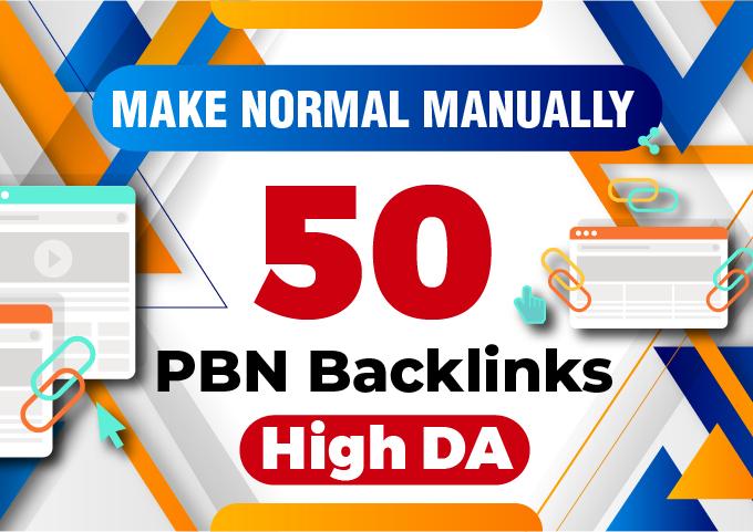 Get Powerful Manually 50 PBN Permanent DA20 Unique Domains