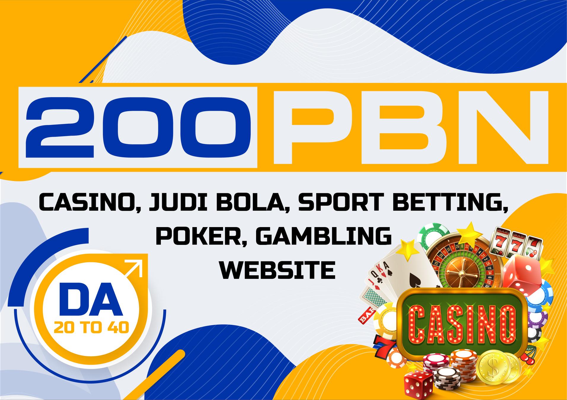 200 Casino / Gambling PBN Backlinks from Poker, Gambling, Online