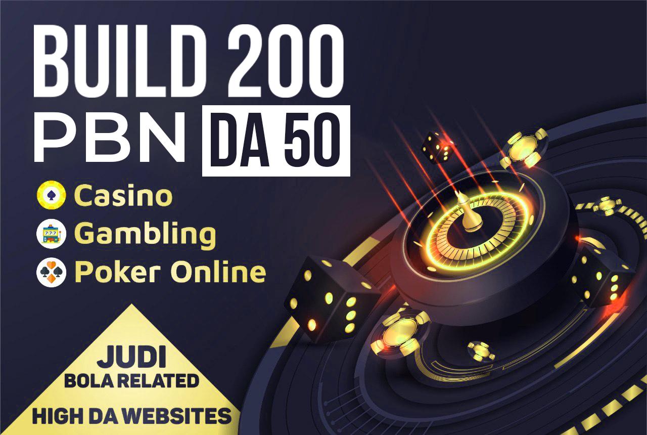 PowerFull Special 200 PBN DA 50 Casino Gambling Poker Online High DA Website