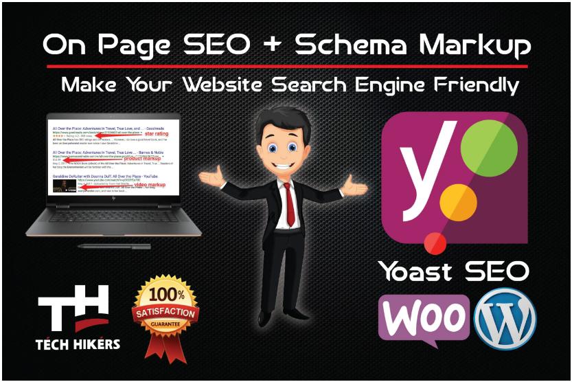 do yoast SEO on page with schema markup