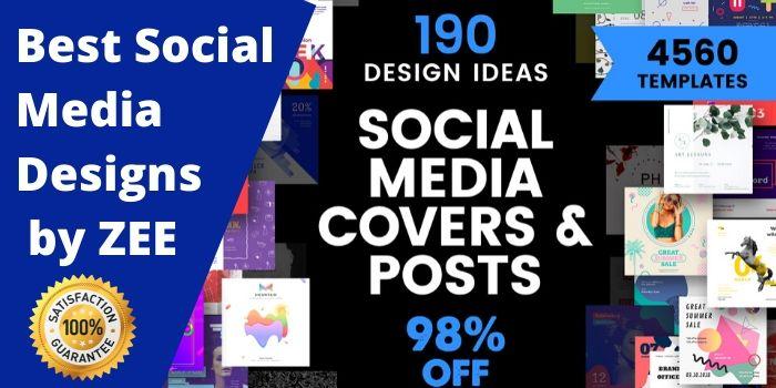 create custom and professional social media posts designs