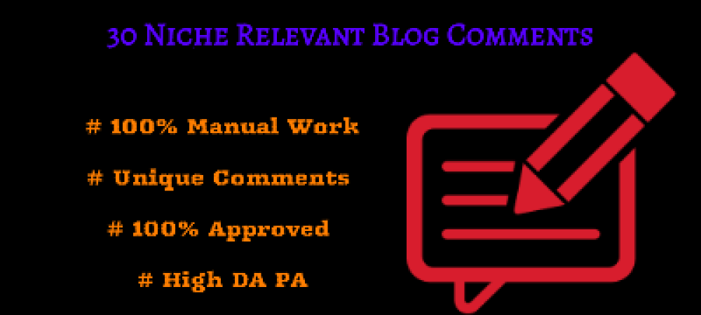 I can do 30 Niche Relevant Blog Comments