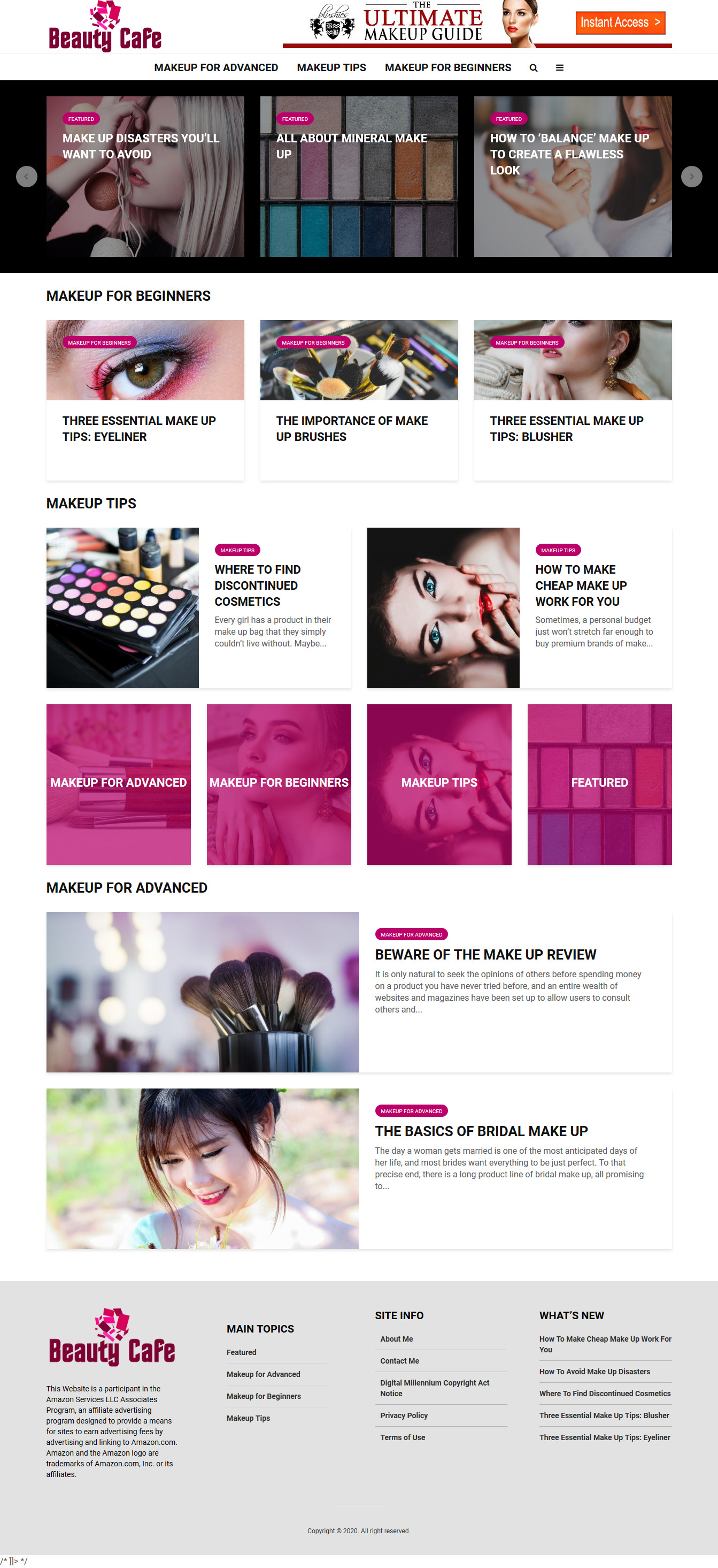I will create for you professionally designed blog e-commerce affiliate and other websites.