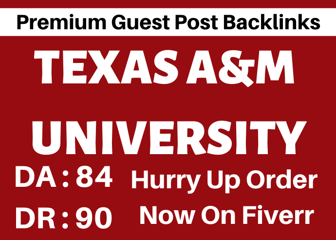 I Will Create Back-Links On Texas University Site With,  DA 84
