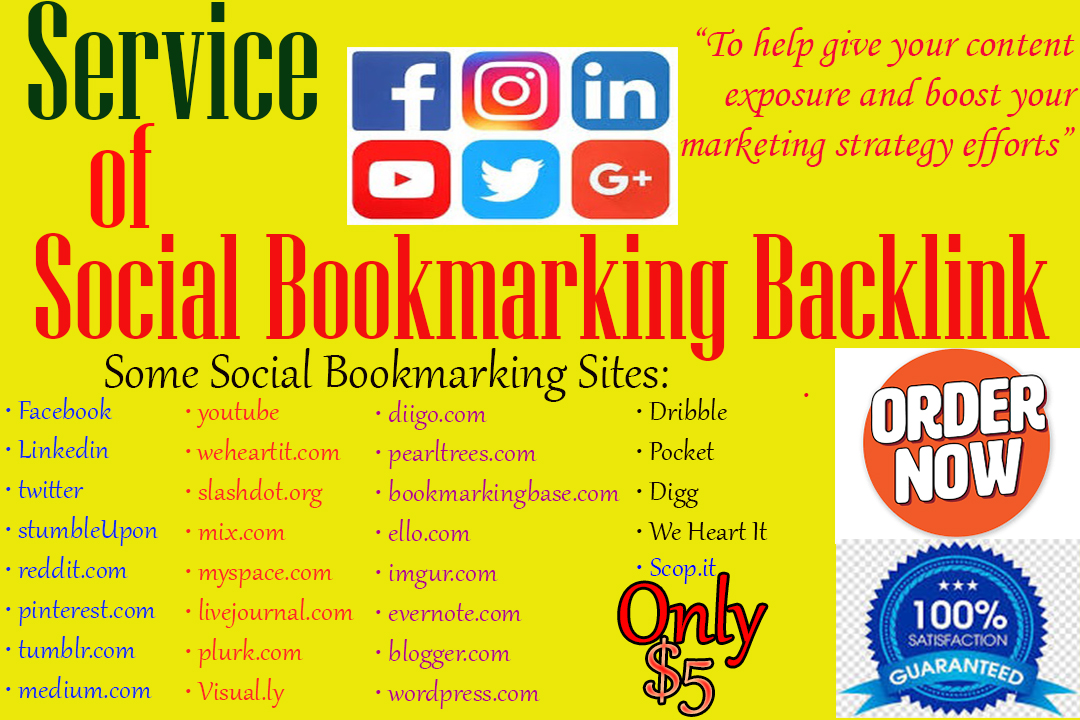 Create HQ 30 Social Bookmarking Backlinks by Manually