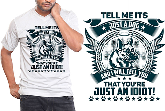 I will do creative dog t shirt design for you
