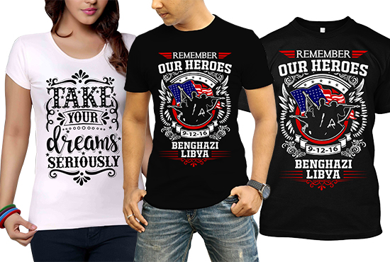 I will do custom t shirt design for you