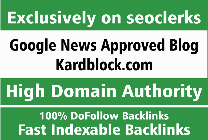 Exclusive Offer for my Own Google News Approved Blog
