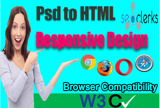 I will convert psd into Html bootstrap responsive website