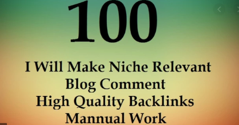 100 All Unique Niche Relevant Blog Comment Backlinks Manually Hand Written With Low OBL