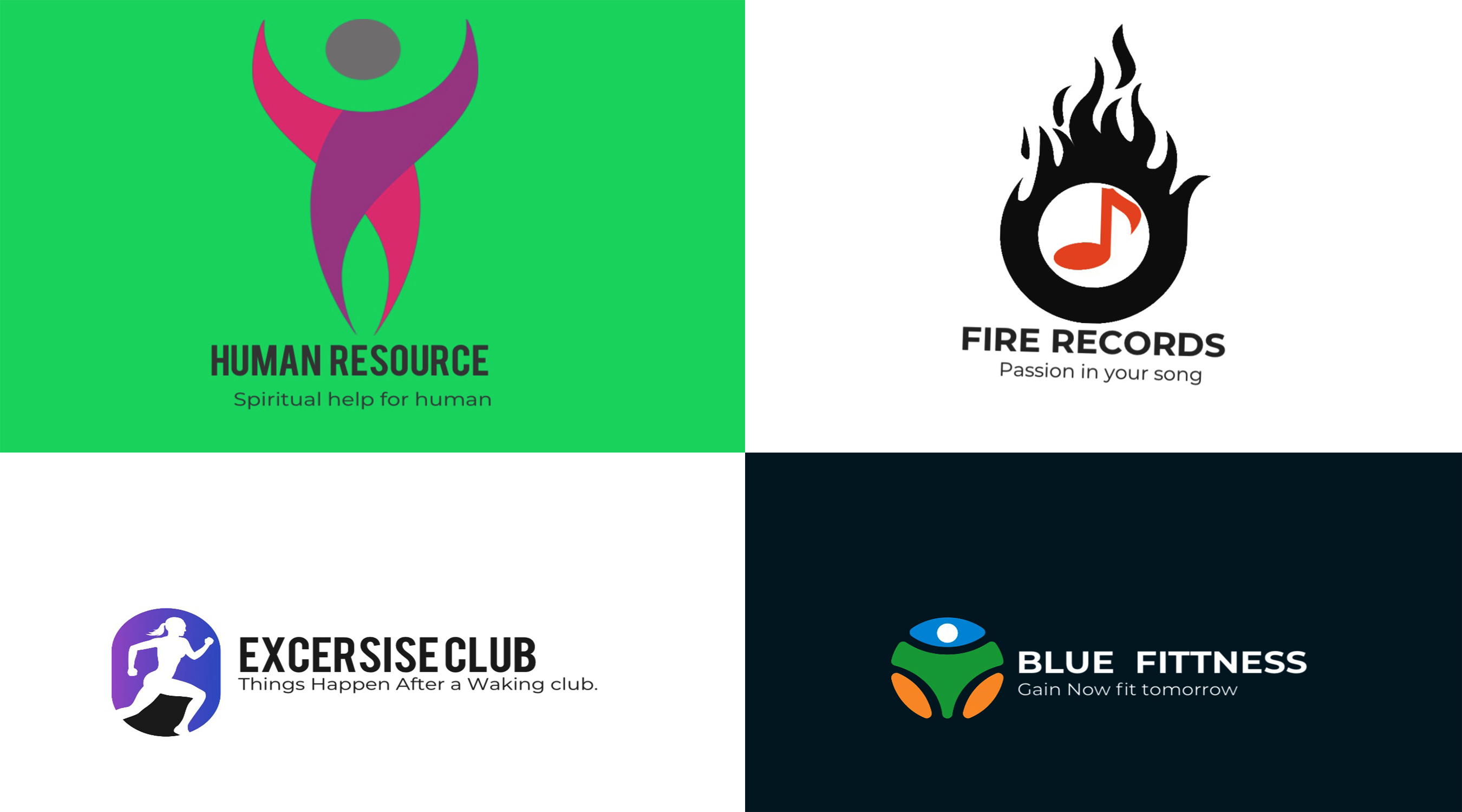 I will design creative flat Minimalist logo with Unlimited revision and Bonus pack