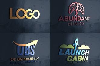 I will Design creative 3D Business Logo Design