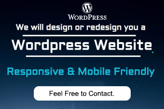 I will create a responsive Any WordPress website,  According to your Requirements.