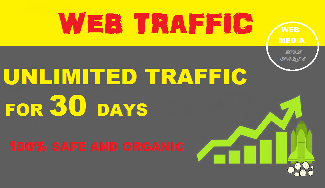 Provide Unlimited organic web traffic to your website for 30 days
