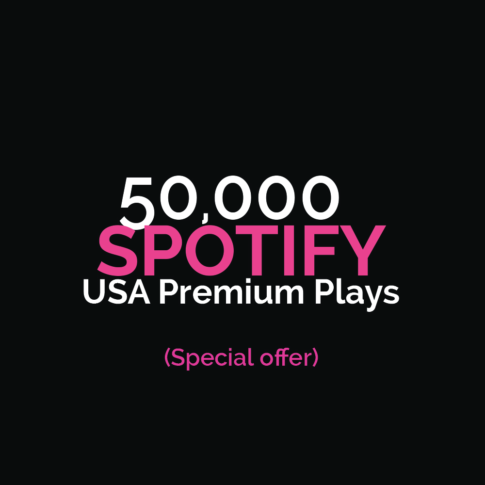 50,000 USA Premium Streams Royalties Eligible LIMITED OFFER