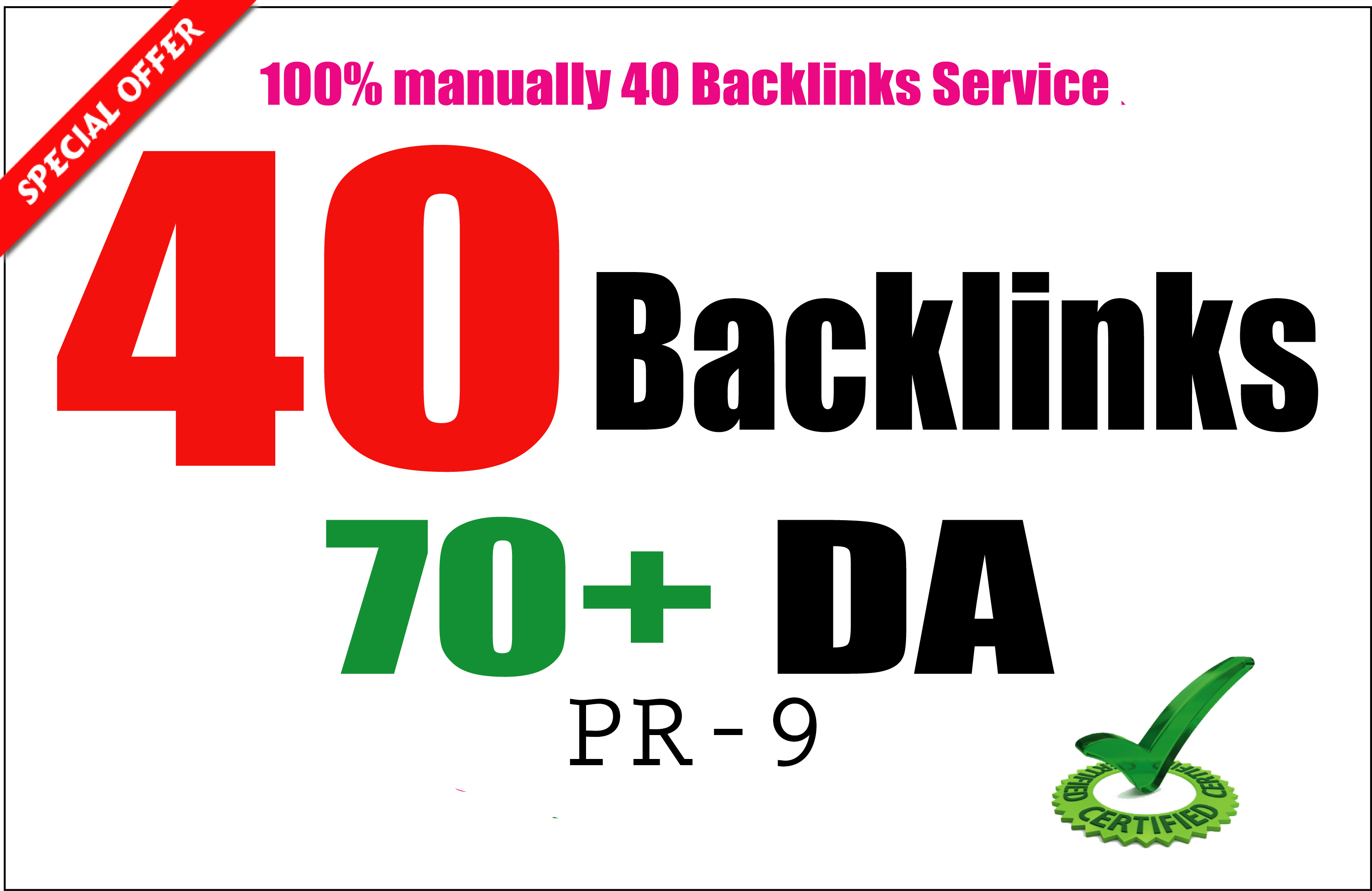 40 MANUAL PR9 - DA Domain Authority 70+ Limited Offer