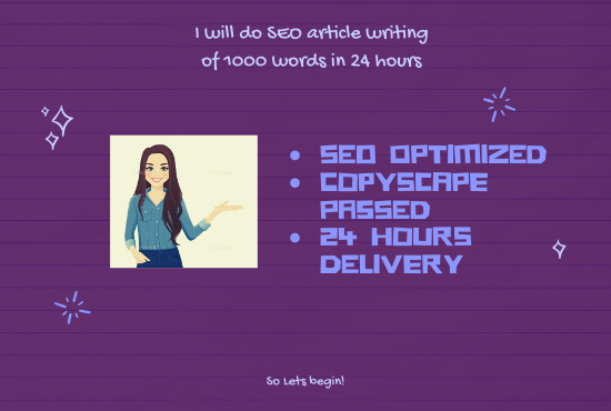 i will write seo optimized article in 24h
