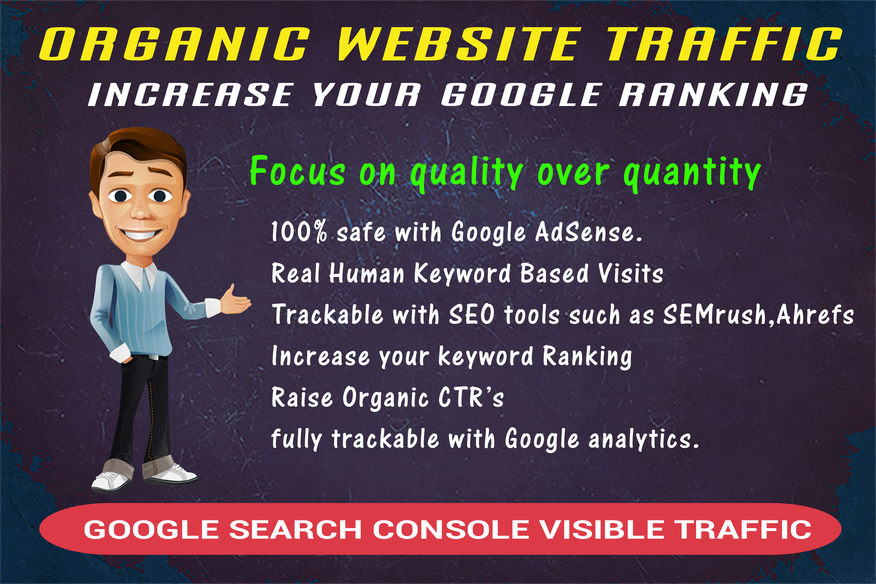 send search console trackable organic traffic to increase your google ranking