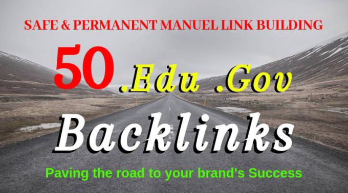 I will create 50 edu gov and pr high trust authority safe SEO link building backlinks
