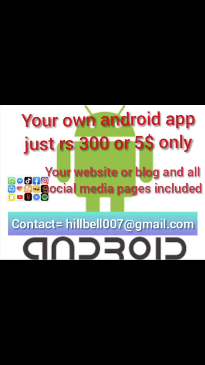 Convert Your Website, YouTube Chanel, Facebook Fan Page Into a Cool Android Application for $3