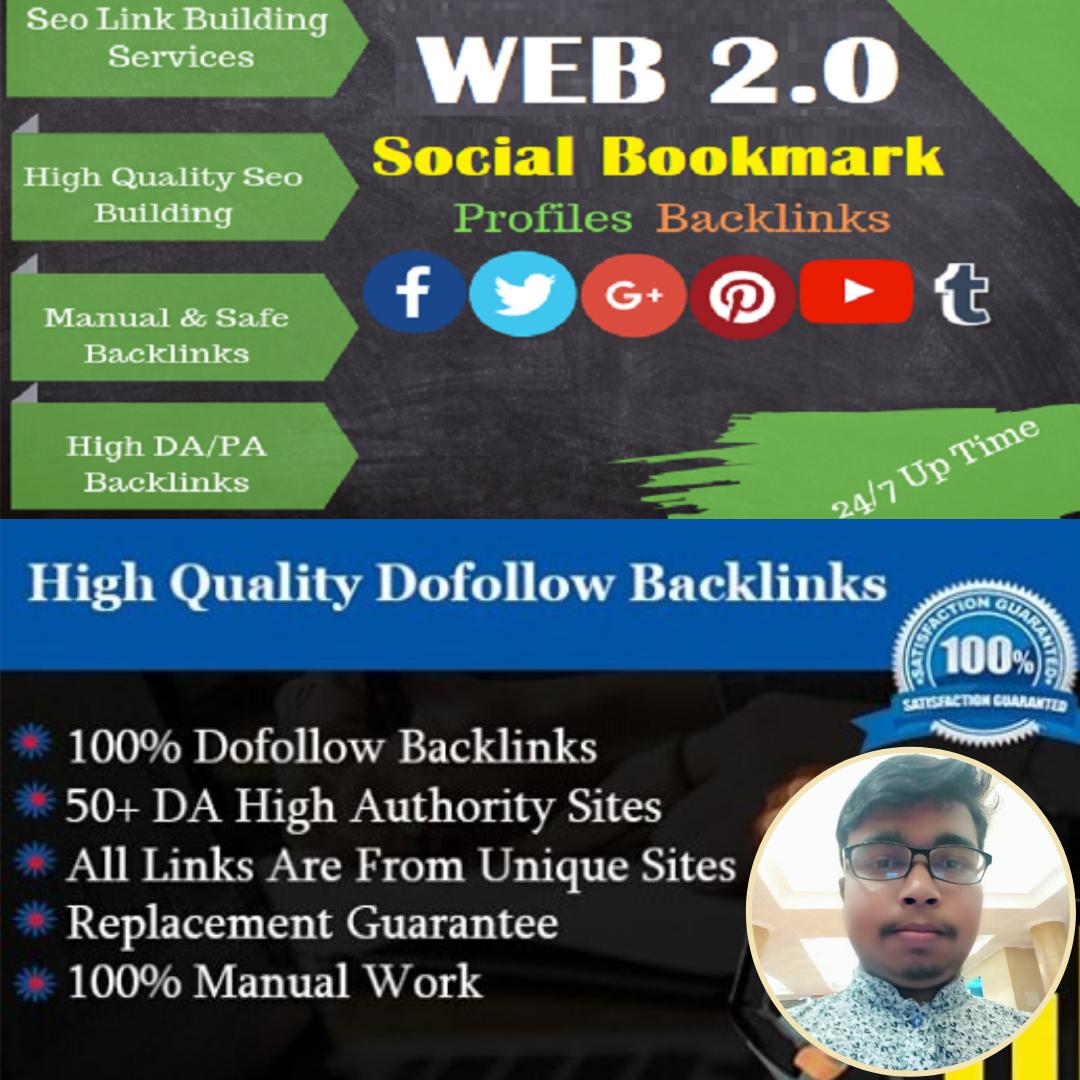 I will do 25 high da live social profile for your business